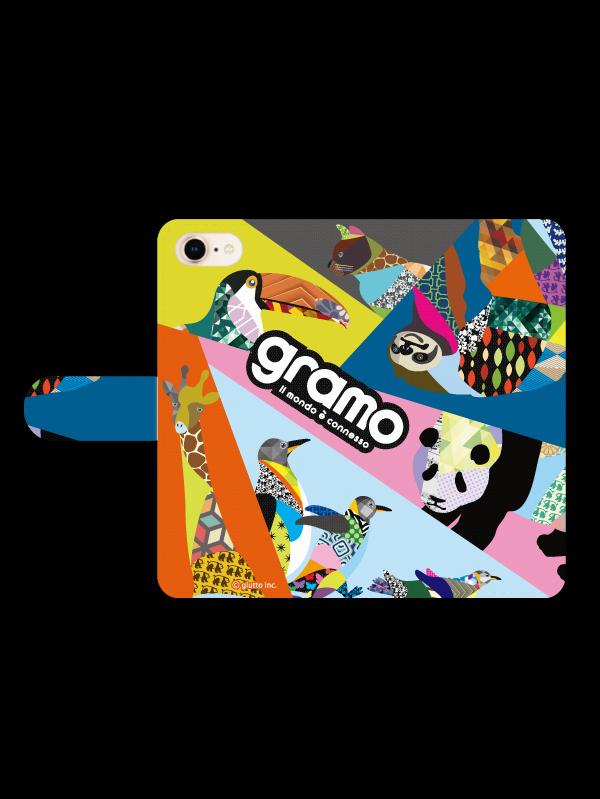gramoスマートフォンケース ブックタイプC